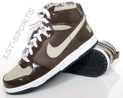 Juniors Nike Trainers Shoes, Big Nike High Le Uk 5.5 Brown