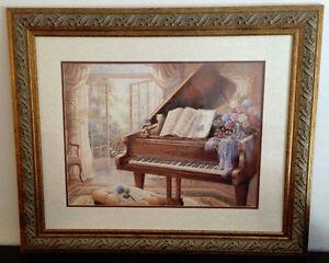 Magifique tableau représentant un piano