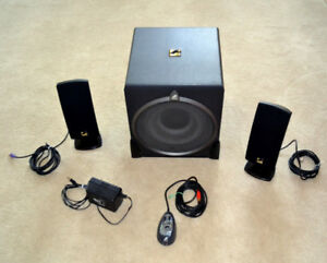 Like New ACOUSTIC AUTHORITY PC Sub Speakers system with Remote