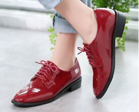 Red brogues size 5/6