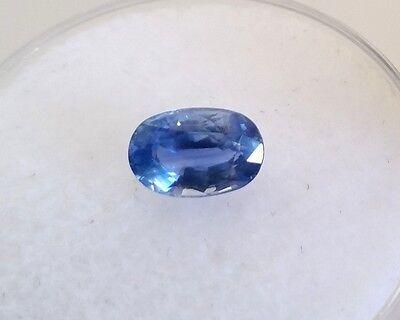 Natural 1.20 Carat Ceylon Blue Sapphire Genuine Loose Gemstone Oval 7X5mm