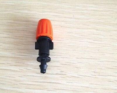 10pcs Misting plastic atomizing sprinkler nozzle 1/4'' flow adjustable