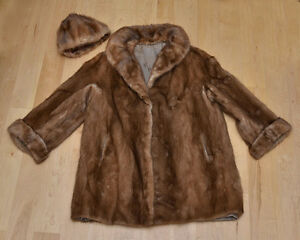 Vintage Fur Coat and Hat