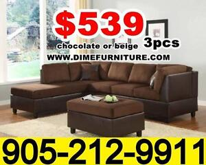 Two tone microfibre sectional set $639