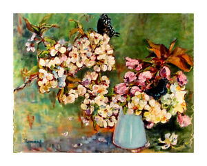 Oil Painting Cherry-blossom