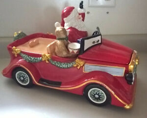 Vintage  Santa Mobile Christmas Cookie Jar