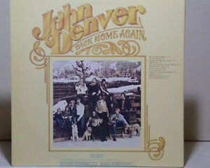 John Denver vintage record/Vinyl LP.Back Home Again 1974.Annie.
