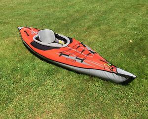 Two inflatable kayaks