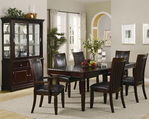 7 Piece Extendable Formal Dining Room Set, FREE Delivery!