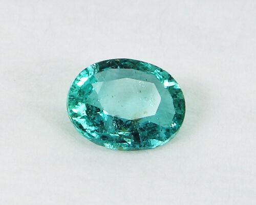 Precious GIA Certified Natural Emerald Beryl Columbia Oval Green 1.28 ct