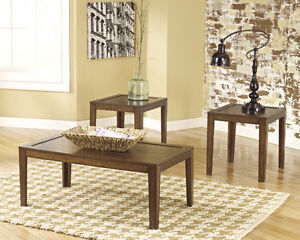 ASHLEY FURNITURE COFFEE & END TABLES NEW