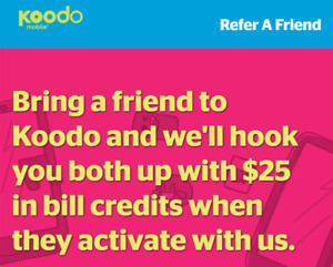 FREE!!! $25 Koodo Refer-a-Friend Credit (Referral)