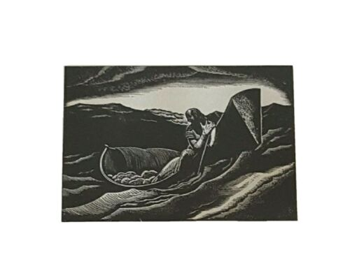 Vtg Rockwell Kent THE END 1933 Lithograph Art Print Mid Century RARE  - $85.00