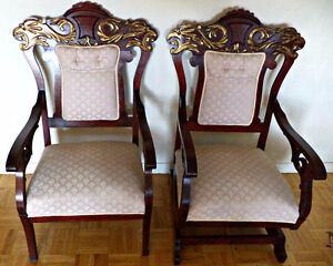 A unique pair of arm chair and matching recliner (delivery)