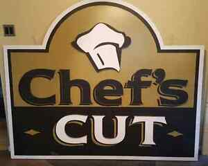 6' x 5' Styofoam sign - 'Chef's Cut'