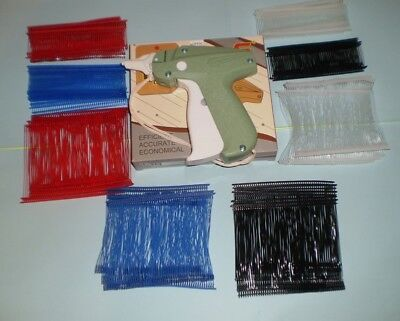 . Clothing Price Label Tagging Tagger Gun With 2000 Pins Barbs Fastener Assorted