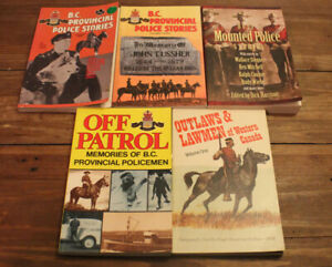 Set of 5 Books True Stories of B.C. Provincial Policeman