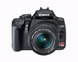 Canon XTi Camera with EFS 18-55mm Lens and Two Batteries