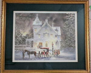 Print of Horses and Snow (Walter Campbell Winter)