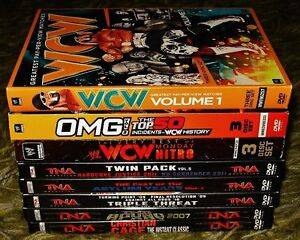Wrestling DVD's 40 available ROH TNA WCW WWE includes disc sets Prince George British Columbia image 3