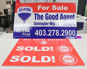 Real estate signs and marketing products