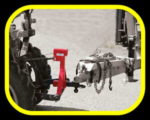 3 point hitch tow bar with two receiver hitch locations