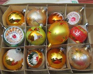 lots de boules de Noel anciennes