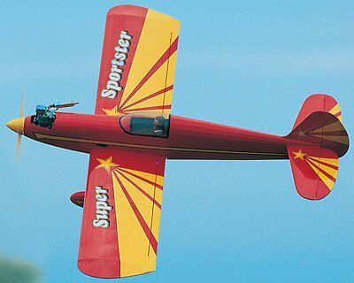 Super Sportster 40   56 In Wing  Sport  Rc Model Airplane Plans Free Shipping