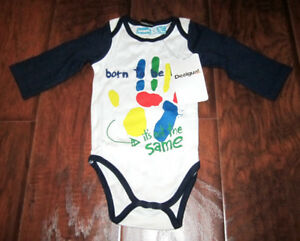 DESIGUAL BODY PIANO LONG SLEEVE ONE PIECE - BOYS 3-6 MONTHS -NEW