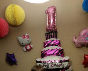 Balloon -  1 st   birthday &  hello kitty ,cup cake shape