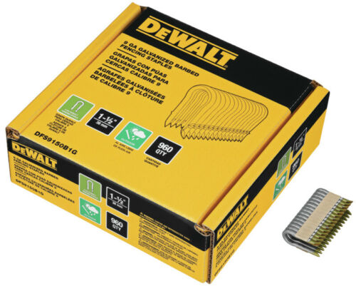 "DeWALT Barbed Fencing Staple 1-1/2"" 960/Box (DFS9150B1G)"