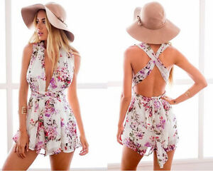 BRAND NEW Crisscross Multiple- Tie Flower Print Romper Playsuit Kitchener / Waterloo Kitchener Area image 2