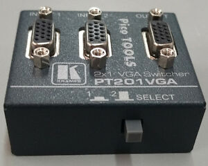 Commutateur VGA 2 in 1 out. Swticher Kramer PT-201VGA