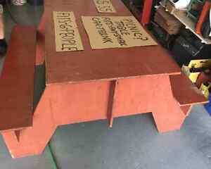 Handmade picnic table