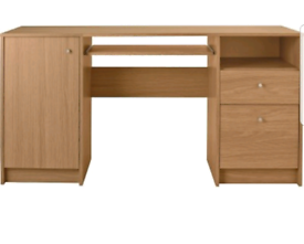 Brand new wood effect desk with storage