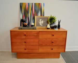 Beautiful MCM teak dresser, commode, tv stand, SOLD.