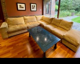 Heals luxury jumbo modular corner sofa good condition