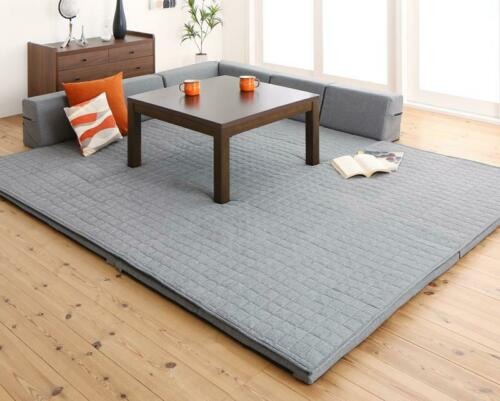 Perfect for a kotatsu Corner cushion rug L shaped mat 190x190cm 190x240cm
