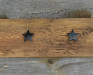 Hand Crafted Rustic Coat Rack with Texas Stars Kingston Kingston Area image 3