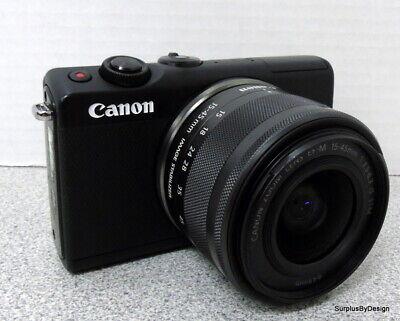 Canon EOS M100 24.2MP Mirrorless Camera, Black