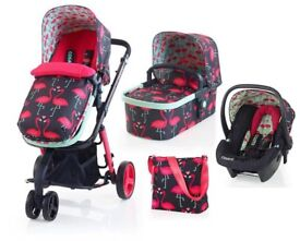 Cosatto 3 in 1 travel system with Isofix car seat base