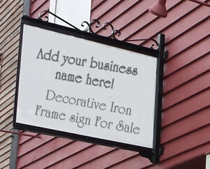Hand Crafted Iron Sign