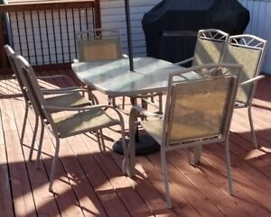 9 Piece Patio Table and Chairs