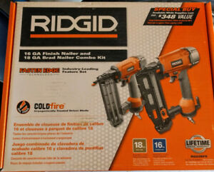 Ridgid Finish Nailer and Brad nailer kit new in box