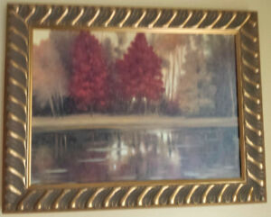 Vancuver Mountains Original Oil painting with frame and