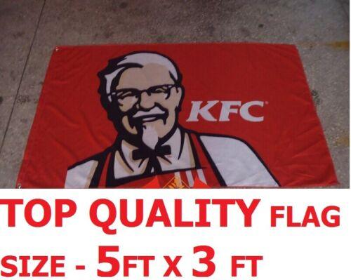 FLAG 5FT X 3FT COLONEL SAUNDERS KENTUCKY FRIED CHICKEN KFC CHICKEN TAKEAWAY