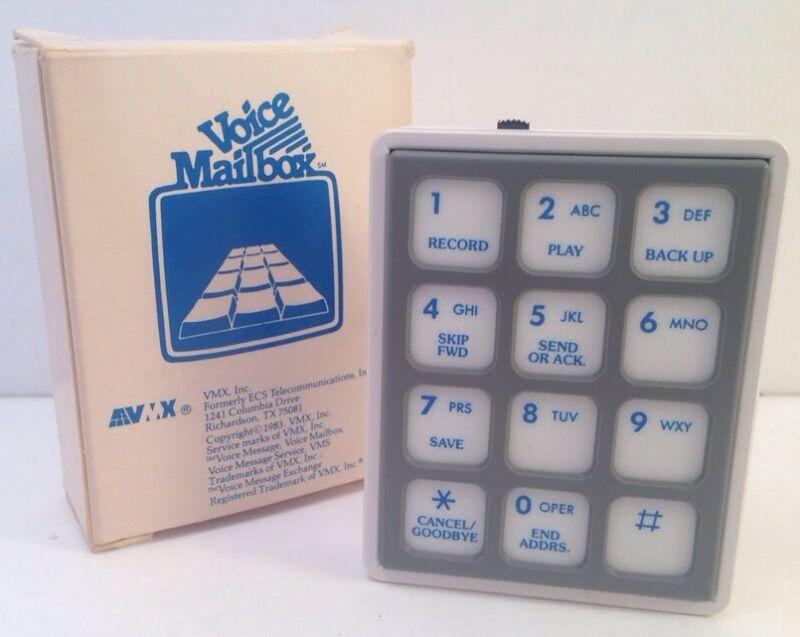 Dead Tech Voice Mailbox VMX Box 1983