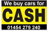 NICE CLEAN HONEST CARS ALWAYS WANTED TOP PRICES PAID FREE COLLECTION BRISTOL & SURROUNDING AREAS