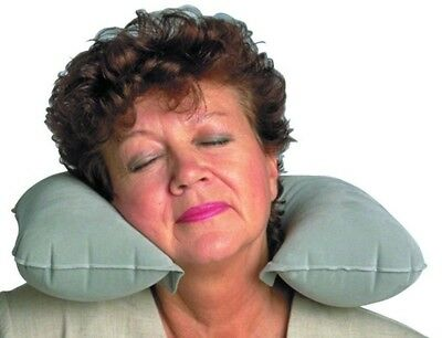 Eze Pillow - Neck-Eze Pillow - Inflatable pillow that fits around the neck