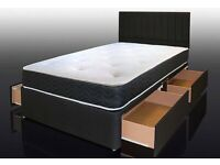 💖SUPERB QUALITY🔵DOUBLE AND KING SIZE DIVAN BED BASE WITH OPTIONAL MATTRESS & HEADBOARD